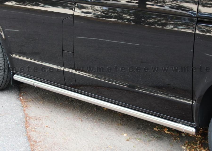 Sivuputket ruostumattomat 60mm ilman askelmaa (4325mm) autoihin Crafter ja Sprinter