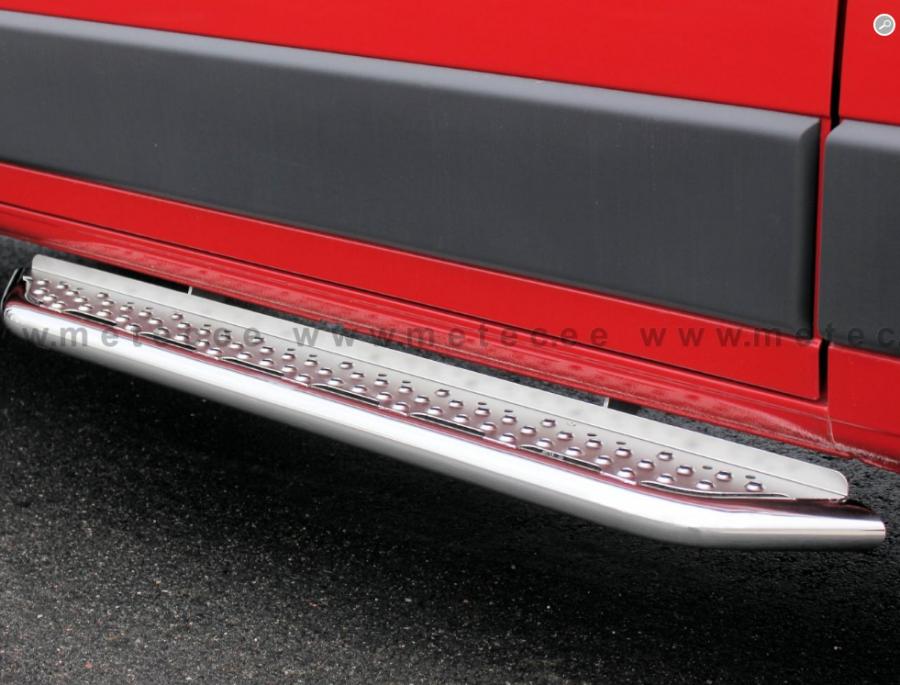 Askelma liukuoveen ruostumattomasta teräksestä autoihin Ducato, Boxer ja Jumper 2014-.
