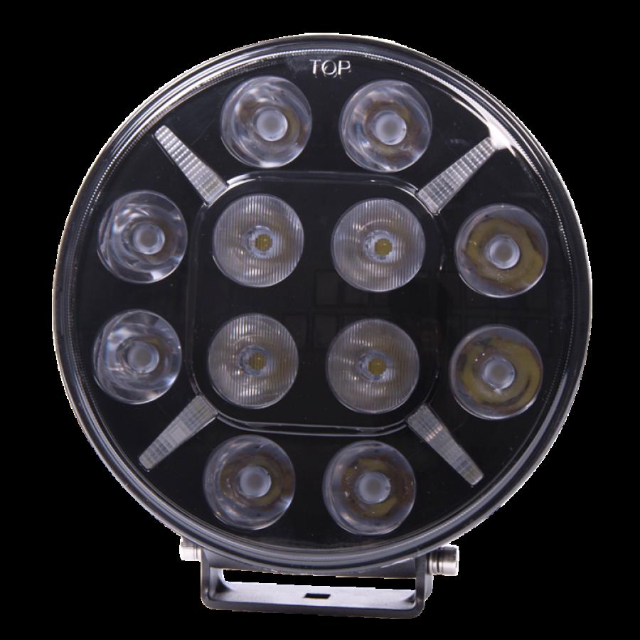 2st LED Lisävalot 180 mm 10800 lumen, mustalla taustalla